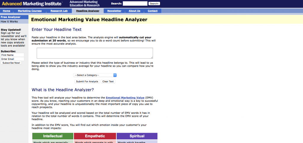 Emotional Value Analyzer Tool